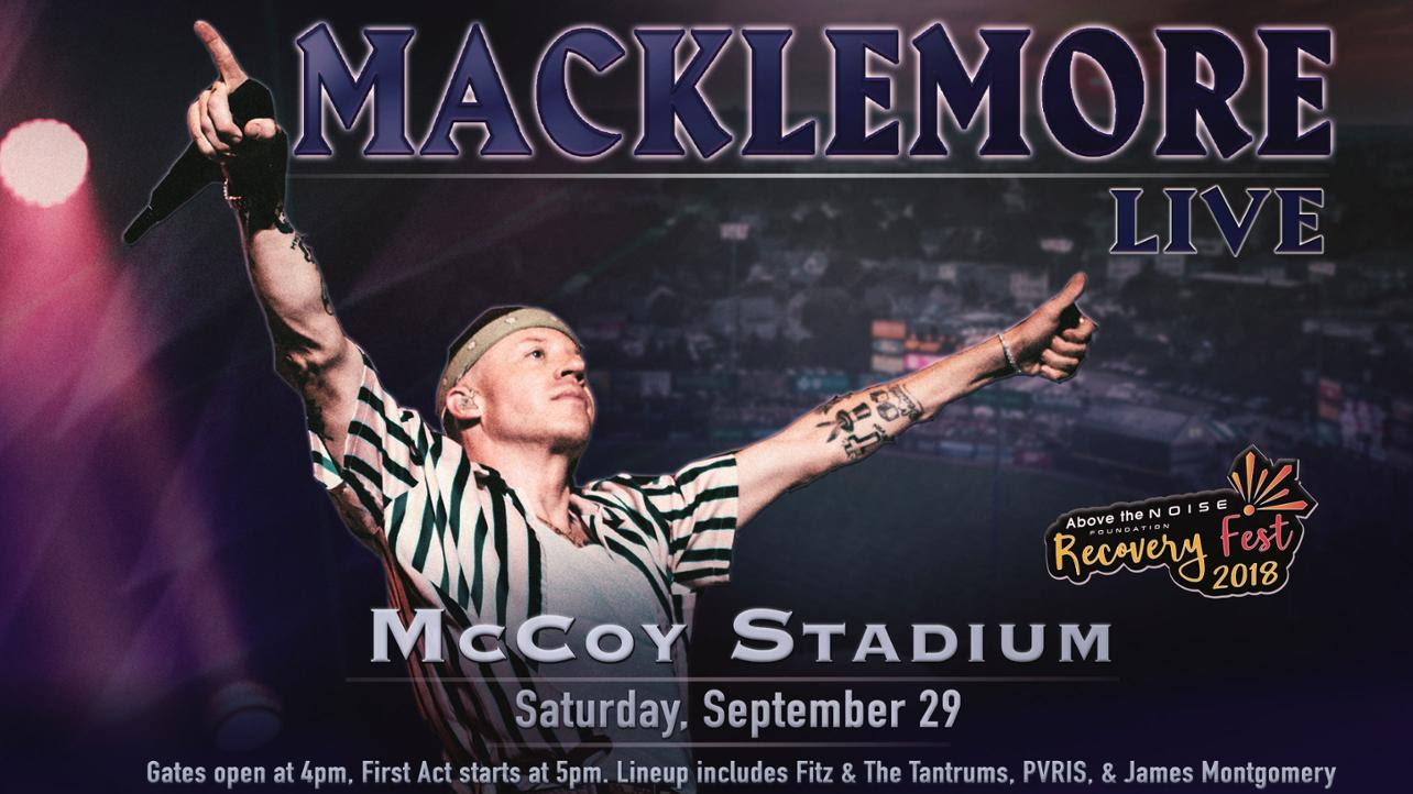 "Macklemore in Pawtucket This Saturday! - ""Recovery Fest 2018"""
