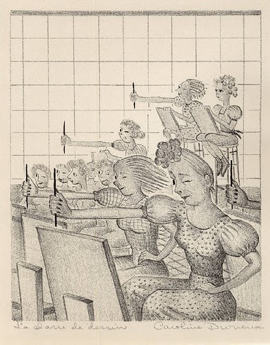 Art class or la classe de dessin 1939