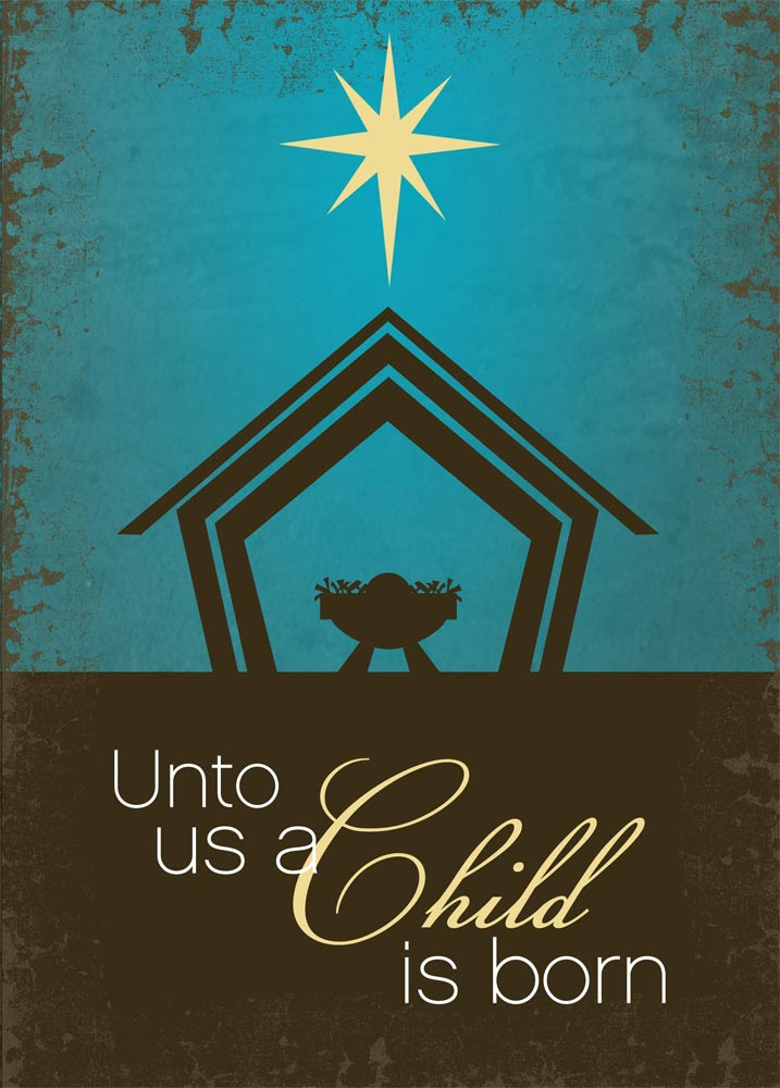 Christmas card greetings wording religious xmast 3 a child is born nativity from cardsdirect m4hsunfo