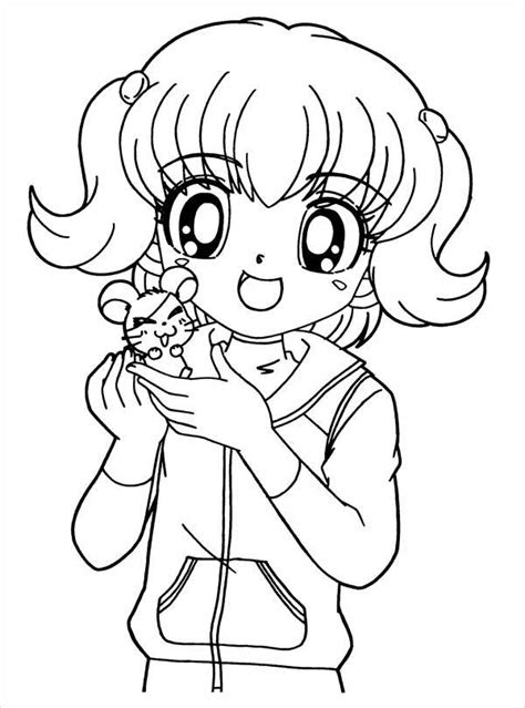 anime girl coloring pages  jpg ai illustrator