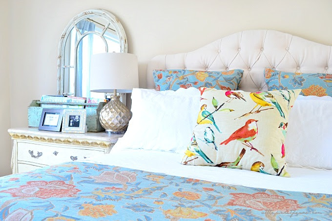 blue and white master bedroom 4