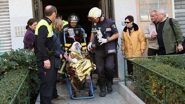 Anciana herida en el incendio de su vivienda, en El Plantinar