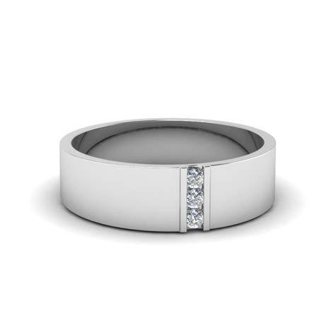 Get 18k White Gold Mens Wedding Bands At Affordable Price