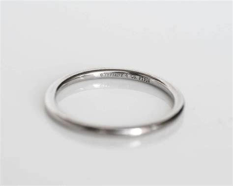 Tiffany and Co. Ultra Thin Platinum Wedding Band Ring at