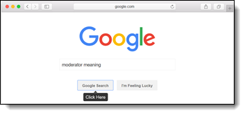 Moderator meaning on Google