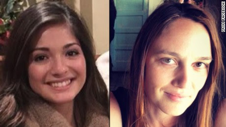 Rusty Houser's victims, Mayci Breaux, left, and Jillian Johnson right