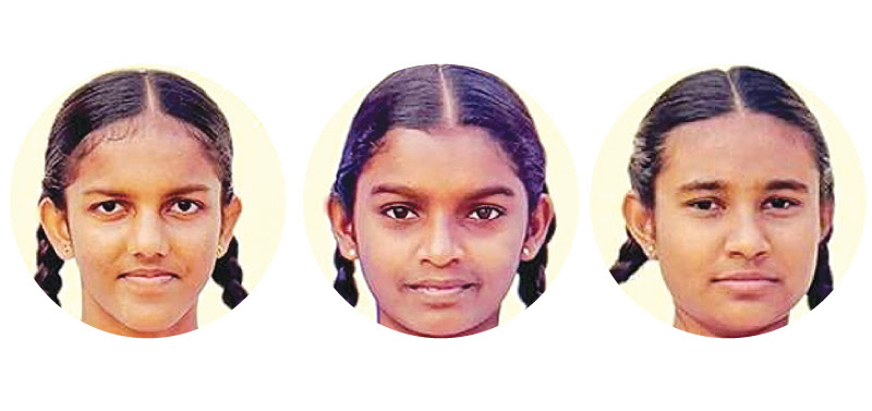 The three girls who drowned