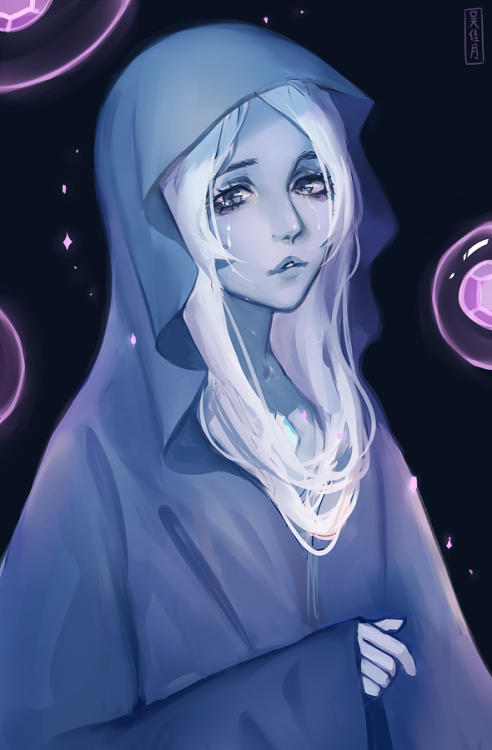 """ 'She made them. This is all we have left of her.' "" Finished blue diamond fanart! I hope she gets a song in the future. Her voice is so soothing and nice to listen to.."
