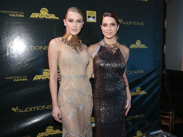 Fiorella Mattheis e Letícia Spiller em evento de moda em Goiânia, Goiás (Foto: Felipe Panfili/ EGO)