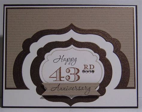 43rd Wedding Anniversary by woodknot   at Splitcoaststampers