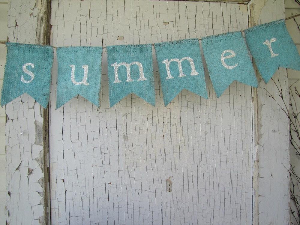 summer.... Burlap Banner - funkyshique
