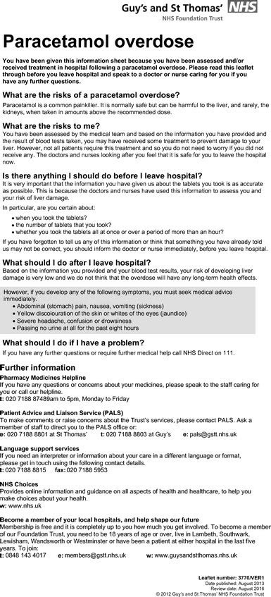 Local patient information leaflet. | Download Scientific