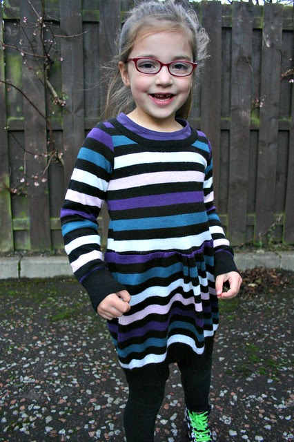 sweater refashion dress 6
