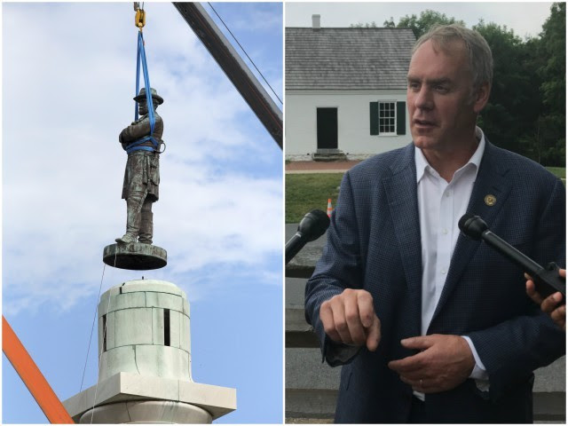 Ryan Zinke: Activists Shouldn't 'Rewrite History' by Removing Confederate Monuments - Breitbart