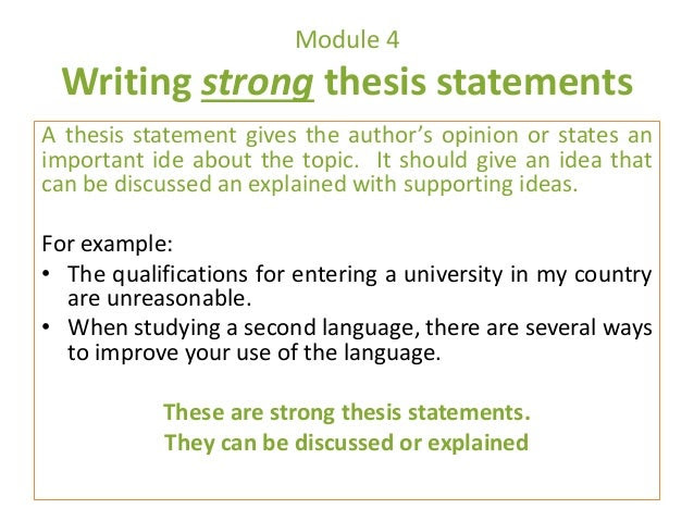 thesis statement examples yahoo