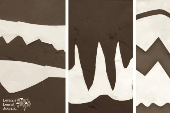 Fine Motor Activities Black White Collage