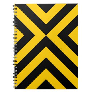 Yellow and Black Chevrons notebook