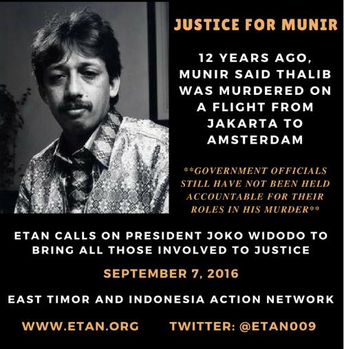 Justice for Munir - 2016