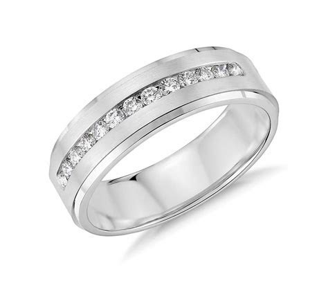 Diamond Channel Set Wedding Ring in 14k White Gold (1/3 ct