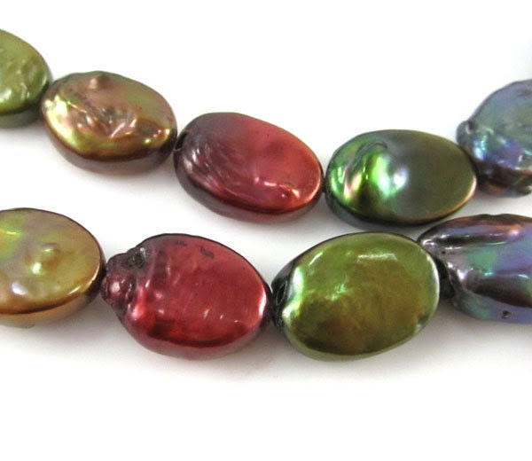 Multicolor Oval Freshwater Pearls - LegendaryBeads