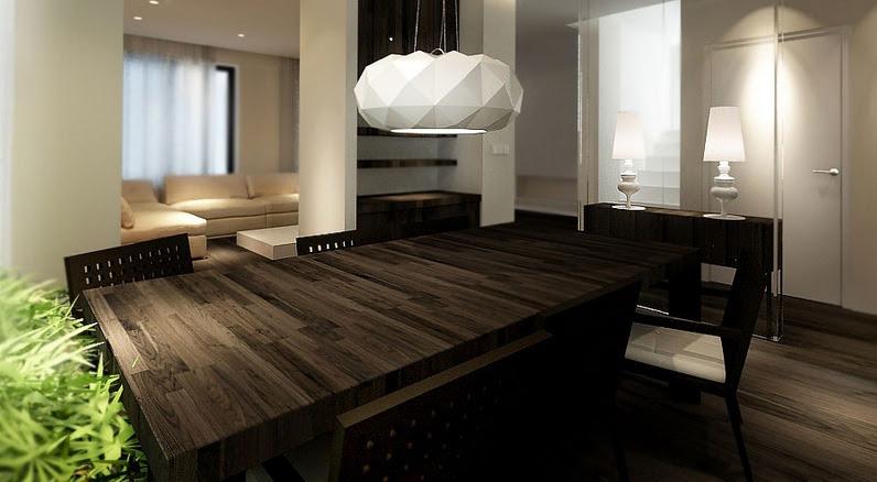Dark wood dining table | Interior Design Ideas.
