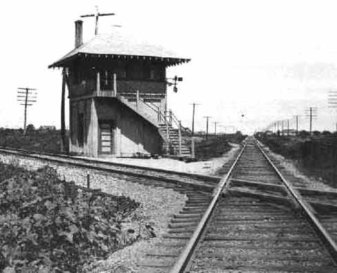 Railroad Interlocking Tower 64, Greenville, Texas 1930