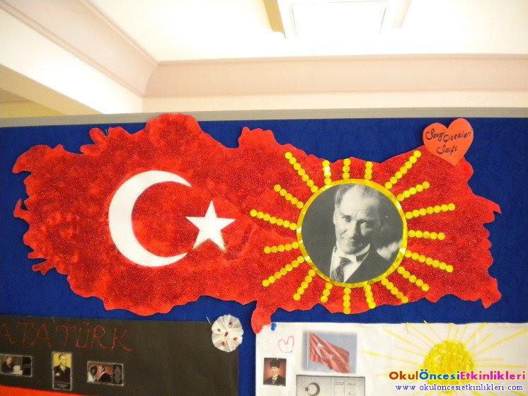 29 Ekim Cumhuriyet Bayramı Türkiye Haritası Okul öncesi