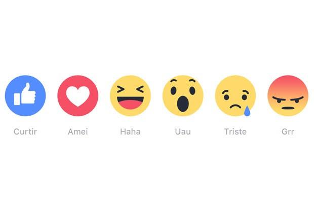 'Reações' são os novos botões do Facebook em forma de emoji e alternativos ao 'curtir'. (Foto: Divulgação/Facebook)