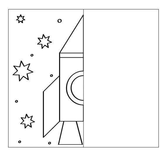rocket drawing symmetry worksheets