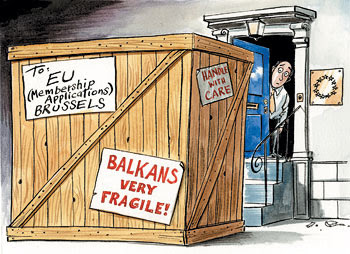 Image result for albania caricatures  EU