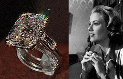 Grace Kelly's ring from Prince Rainier. She used it as her
