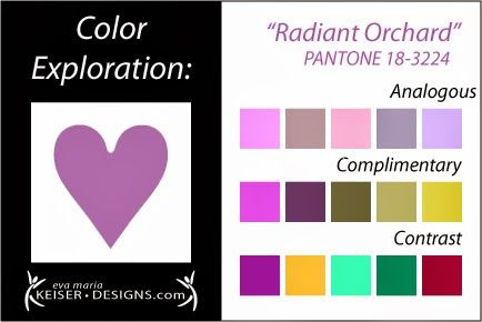 Eva Maria Keiser Designs: Explore Color: Radiant Orchard