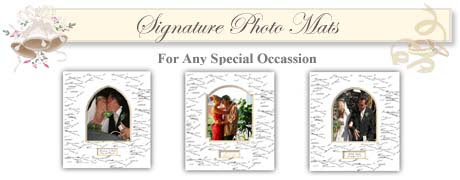 Wedding Signature Frame And Personalized Wedding Picture Frame By