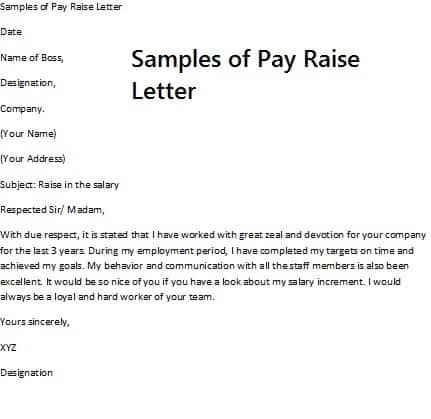 Emigrate Or Immigrate Pay Raise Letter