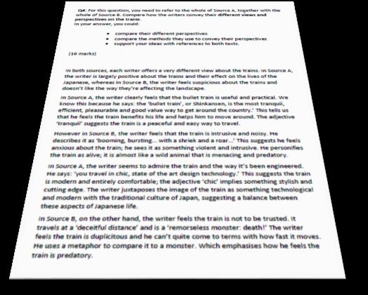 English Language Paper 2 Question 4 Example Answer - English Language Revision Exam Bk Aqa Richard Durant 9781407169163 Amazon Com Books
