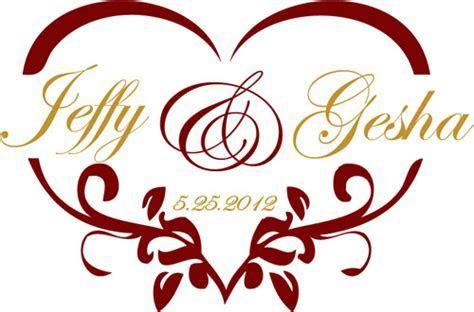 Heart Shaped Wedding Monogram for a Gobo   Wedding