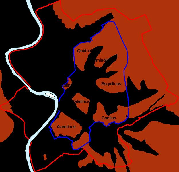File: Karta över forntida Rome.svg