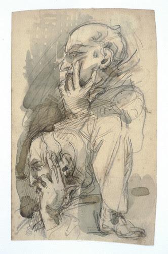 019- Estudio de un hombre pensativo-Cyprian Kamil Norwid- 1821-1883