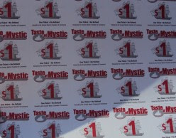Tickets for The Taste of Mystic are $1 each. Most items range from 1-6 tickets each.
