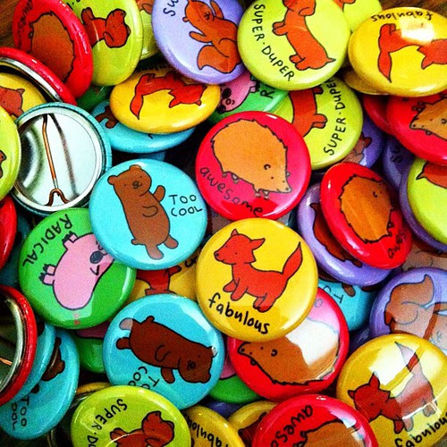 New Awesome Animals button set in my Etsy!