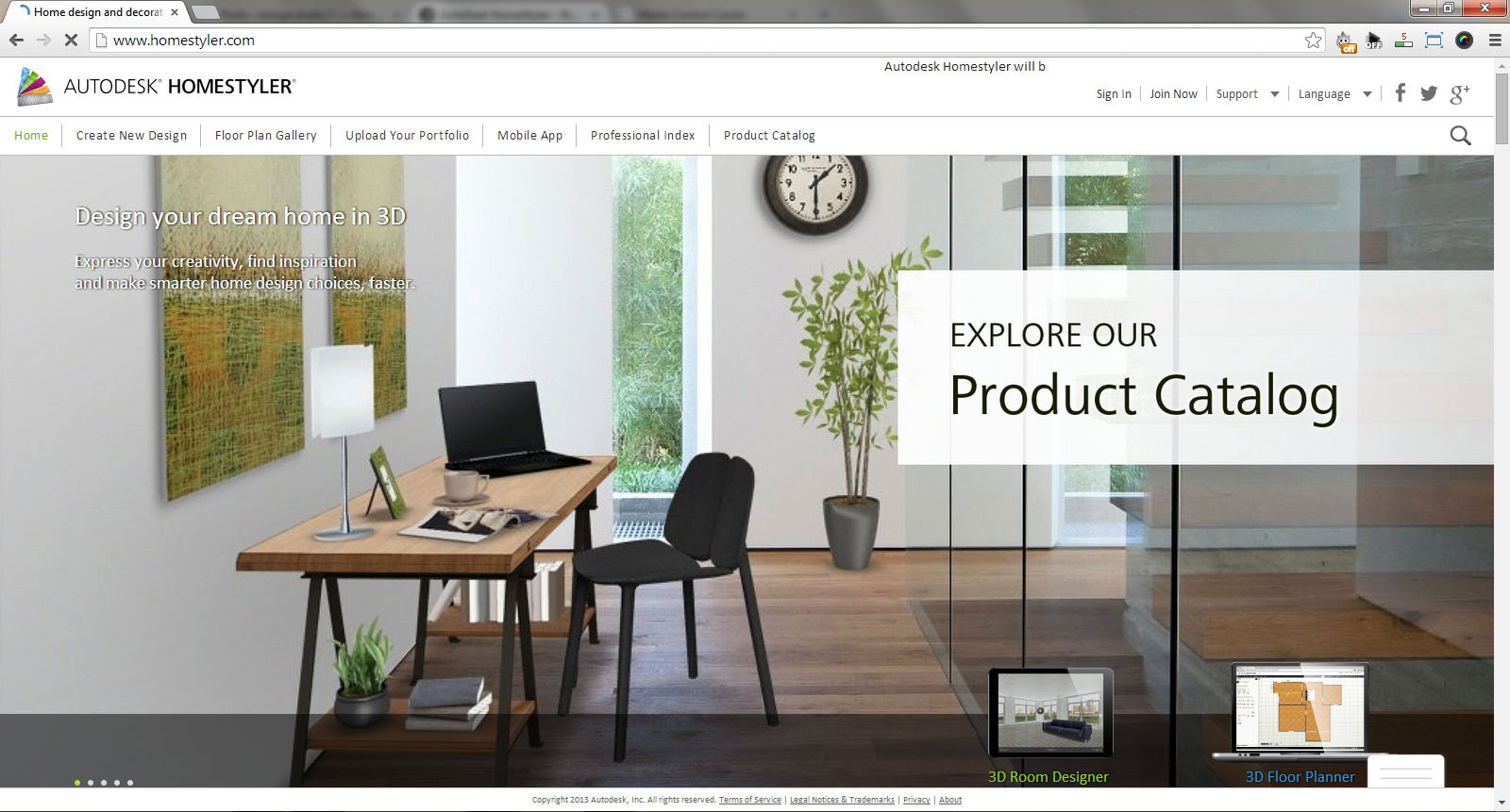 AutoDesk HomeStyler - Web Based Interior Design Software