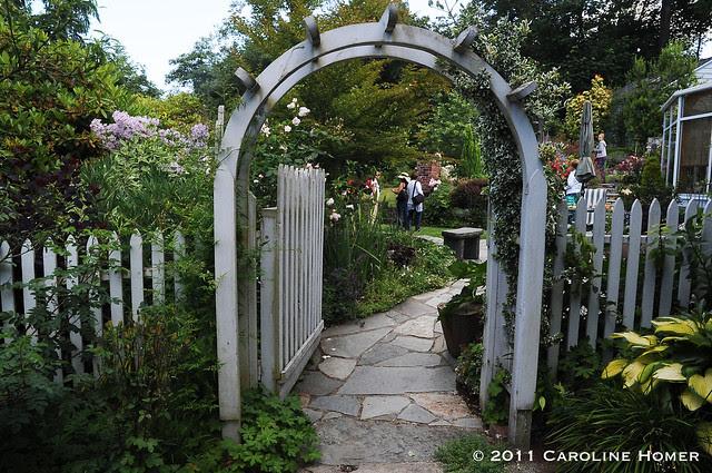 Thru the garden gate