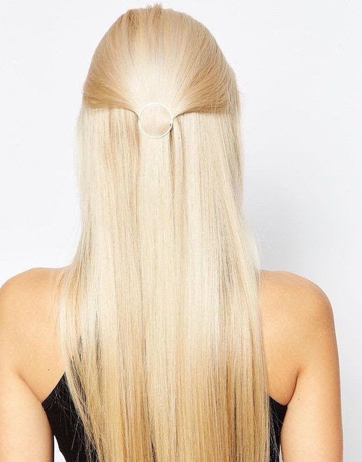 Le Fashion Blog 15 Ways To Wear Round Circle Hair Clip Pin Accessory Hairstyle Half Up Do Straight Blonde Hair Orelia Via Asos