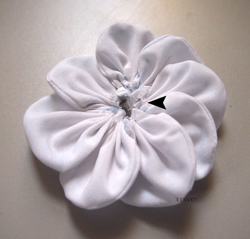 Fabric Flower Tutorial Step 11
