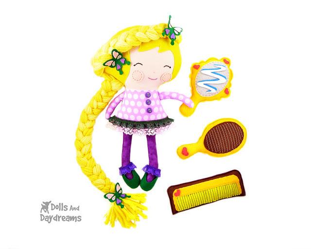 Rapunzel doll sewing pattern