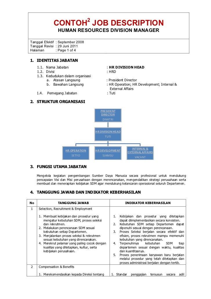 Contoh Job Description Staff Administrasi Car Scoop 17