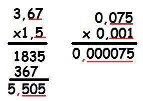 Resultado de imagem para multiplicação de decimais