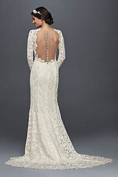 Long Sleeve Wedding Dresses & Gowns   David's Bridal