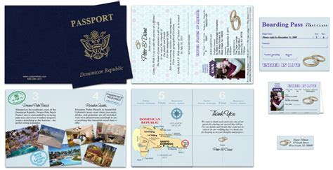 Passport 37, Gold Rings   Custom Passport Invitations