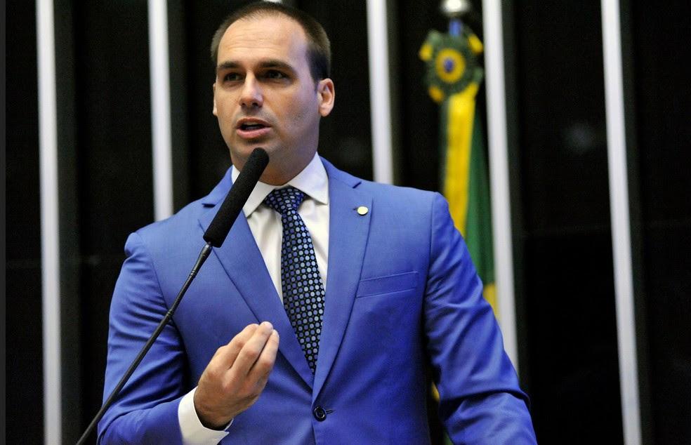 O deputado Eduardo Bolsonaro (PSC-SP) (Foto: Alex Ferreira/Câmara dos Deputados)